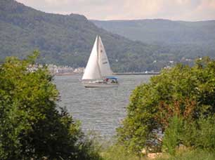 Sailboat from Croton-on-Hudson