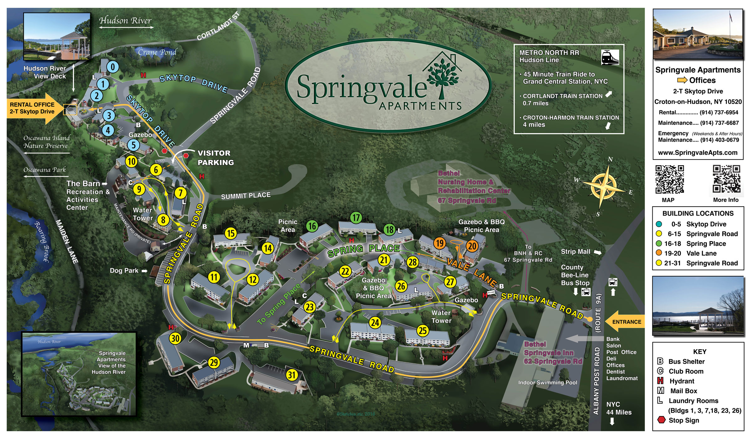 Map of Springvale Apartments