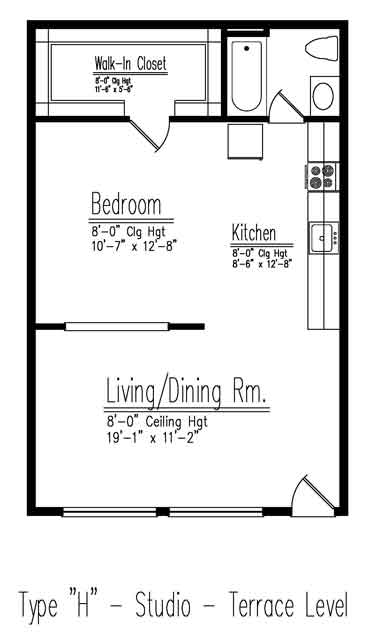 Studio apartments croton on hudson ny for Studio apartment floor plans pdf